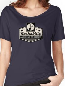 Rockabilly American 60's Music Women's Relaxed Fit T-Shirt