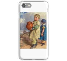 William Henry Hunt - The Farm Boys  iPhone Case/Skin