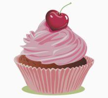 I Heart Cherry Cupcakes Kids Tee