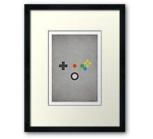 N64 - Nintendo Controller Minimalist Series Framed Print