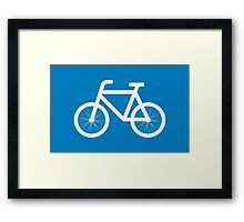 Race a bicycle Framed Print
