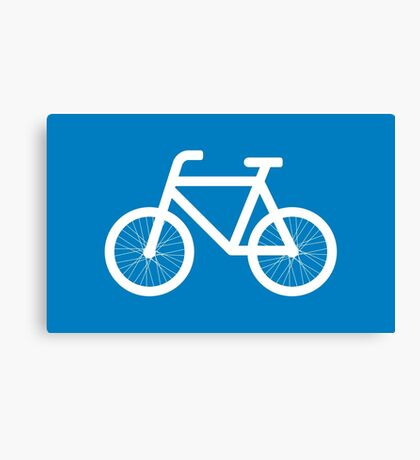 Race a bicycle Canvas Print