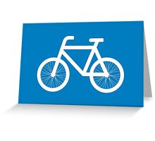 Race a bicycle Greeting Card