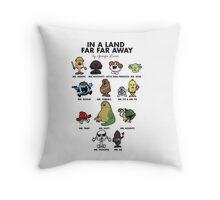 In A Land Far Far Away Throw Pillow