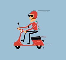 Skater on a scooter Unisex T-Shirt