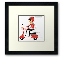 Skater on a scooter Framed Print