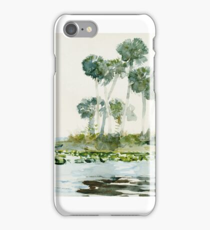 Winslow Homer, ST. JOHNS RIVER, FLORIDA iPhone Case/Skin