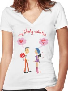 My Bloody Valentine Women's Fitted V-Neck T-Shirt