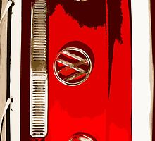 Red combi Volkswagen cutout by benbdprod