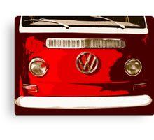 Volkswagen combi Illustration red version Canvas Print