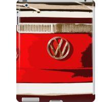 Volkswagen combi Illustration red version iPad Case/Skin