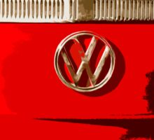Volkswagen combi Illustration red version Sticker