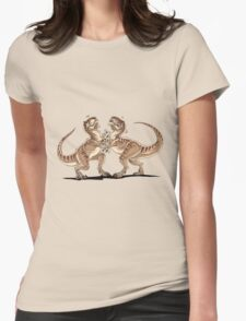 T-Rex Slap Fight  Womens Fitted T-Shirt