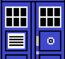8bit tardis Sticker