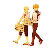 One Punch Man - Saitama and Genos laundry Photographic Print