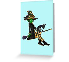 The Green Witch  Greeting Card