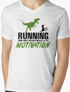 Running - sometimes all you need is a little motivation Mens V-Neck T-Shirt