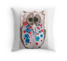 Staccato Owl Throw Pillow
