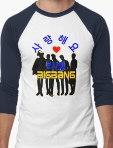 ♥♫Love BigBang Cool K-Pop Clothes & Phone/iPad/Laptop/MackBook Cases/Skins & Bags & Home Decor & Stationary♪♥ Men's Baseball ¾ T-Shirt