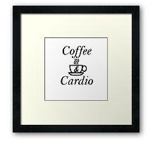 Coffee and Cardio Framed Print