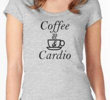 Coffee and Cardio Women's Fitted Scoop T-Shirt