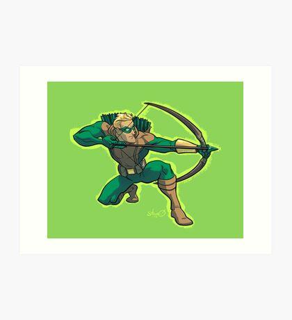 Green Arrow 1990s JLA Art Print