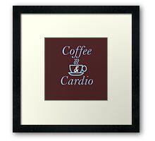 Coffee and Cardio Blue Framed Print