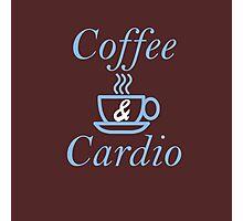 Coffee and Cardio Blue Photographic Print