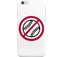 No Softball iPhone Case/Skin