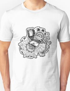 City Sun Rising Beneath the Rose Saw and Cornucopia Unisex T-Shirt