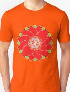 Red Blossom Flower Mandala Unisex T-Shirt