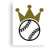 Softball crown  Canvas Print