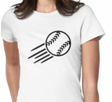 Flying Softball Womens Fitted T-Shirt
