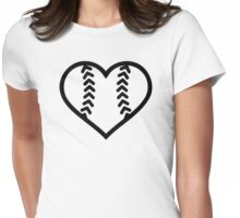 Softball heart Womens Fitted T-Shirt