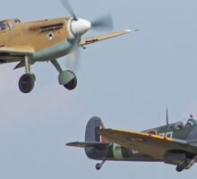 Friend And Foe Take Off - Duxford Flying Legends 2013 Sticker