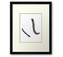 Softball seams Framed Print