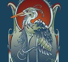 Heron by BMcGee