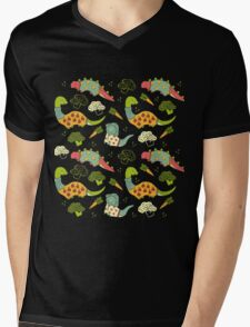 Eat Your Veggies in Brights Mens V-Neck T-Shirt
