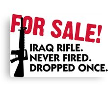 Rifle for sale. Only once fired. Canvas Print