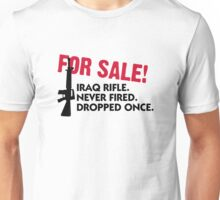 Rifle for sale. Only once fired. Unisex T-Shirt