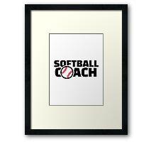 Softball coach Framed Print