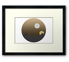 Tatooine/Death Star Framed Print