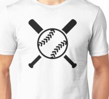 Softball crossed bats Unisex T-Shirt