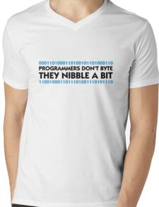 Programmers do not bite. They nibble a bit! Mens V-Neck T-Shirt