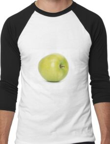 Green apple on white background Men's Baseball ¾ T-Shirt