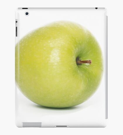 Green apple on white background iPad Case/Skin