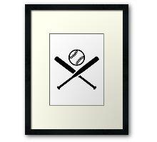 Softball bats Framed Print