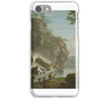 French School, 18th Century BATHERS NEAR A WATERFALL iPhone Case/Skin