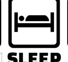 Eat sleep play Softball Sticker