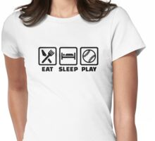 Eat sleep play Softball Womens Fitted T-Shirt